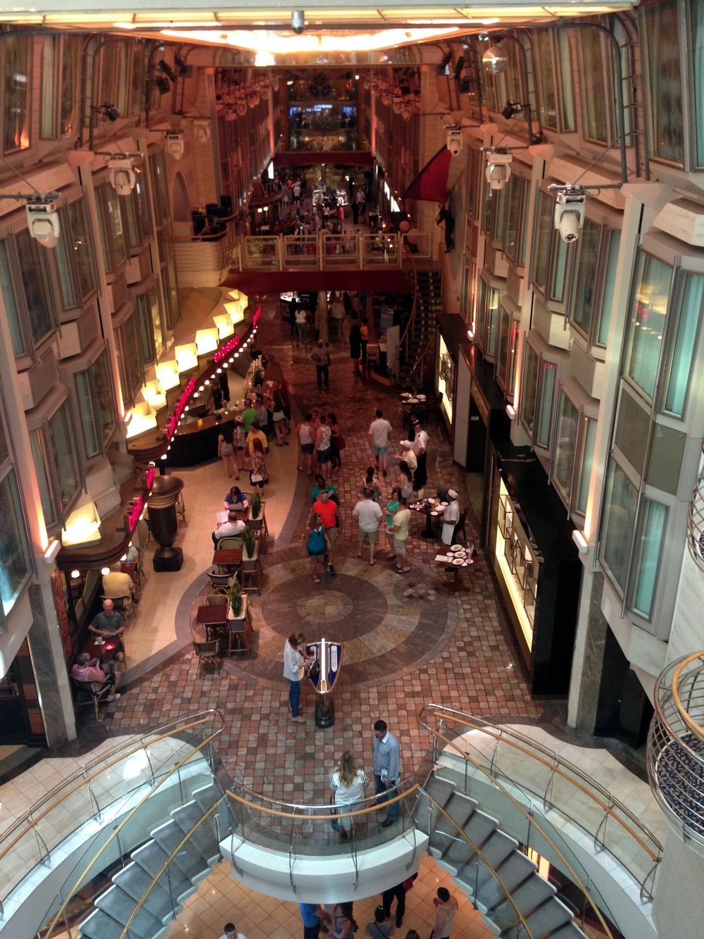 This is the Royal Promenade--basically Main Street inside the ship.