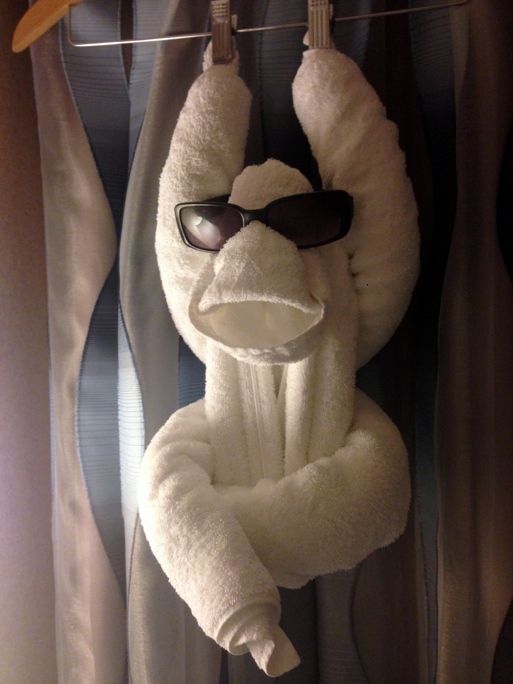 Othniel also made us this towel gorilla. We named him Bobo.