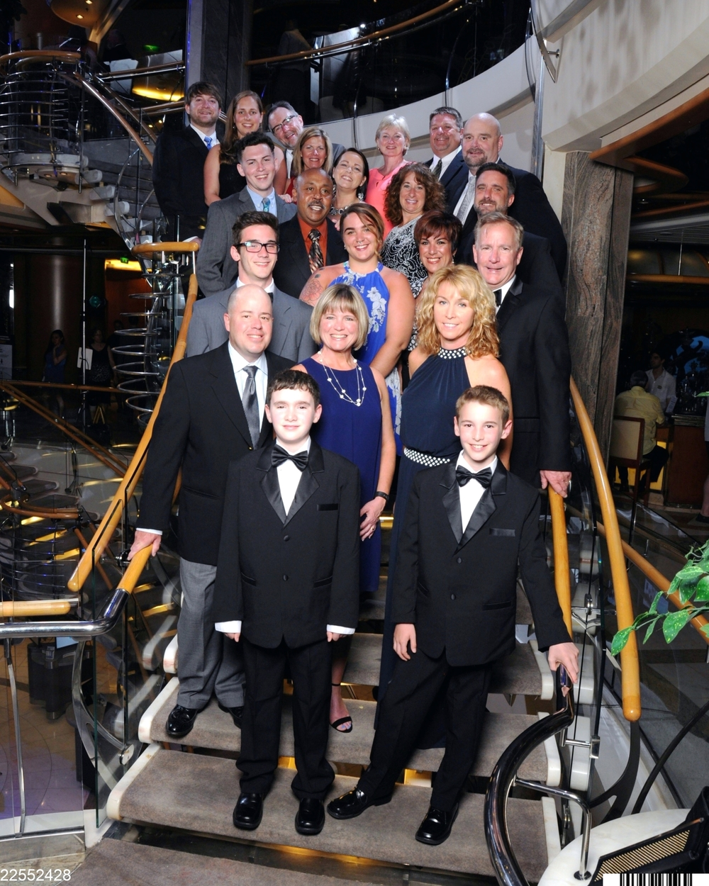 And here is the whole cruise crew, dressed up for fancy night!