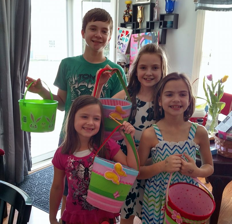 What a cute bunch of egg-hunters.