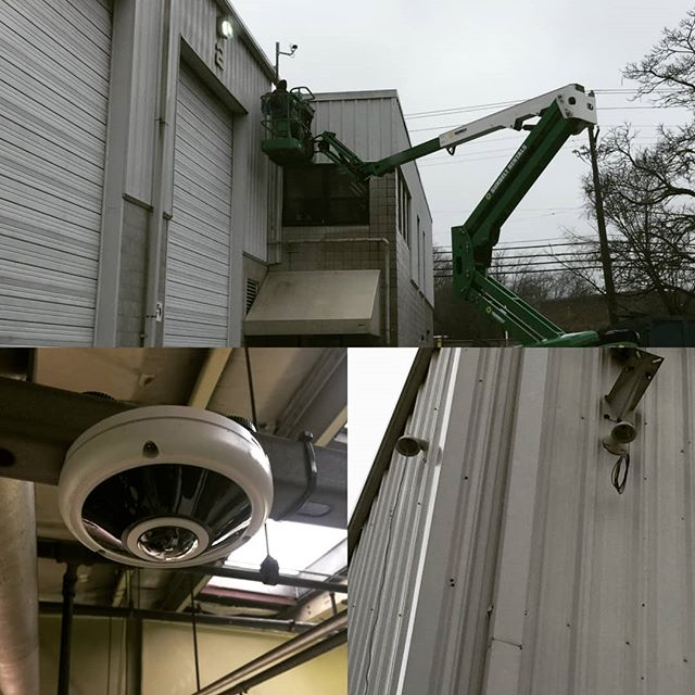 Security camera installation is coming along nicely!  #lntechllc #smallbusiness #grind
