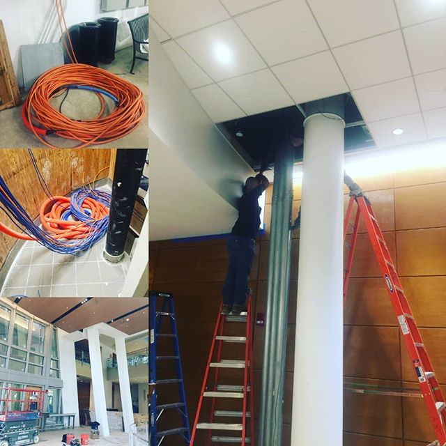 Call in to clean up another contractors failure. #lntechllc is completing a complete structured cabling installation.  #makingmoves #entrepreneurship