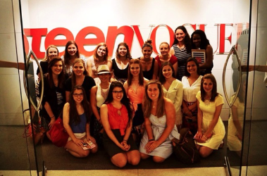 A group of Smart Girls visiting Teen Vogue after they July conference.