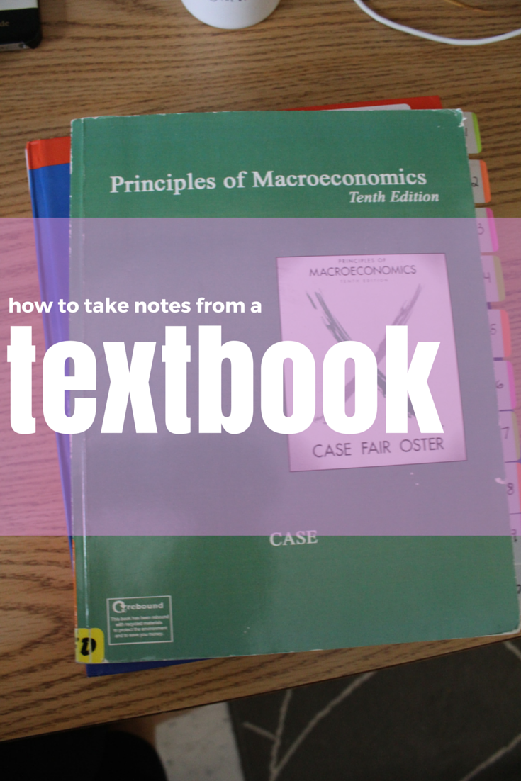 How to take notes from a textbook - the college life stylist