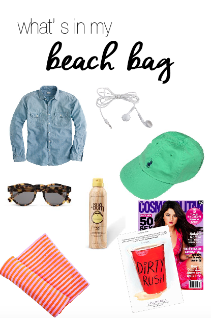 Whats in my beach bag