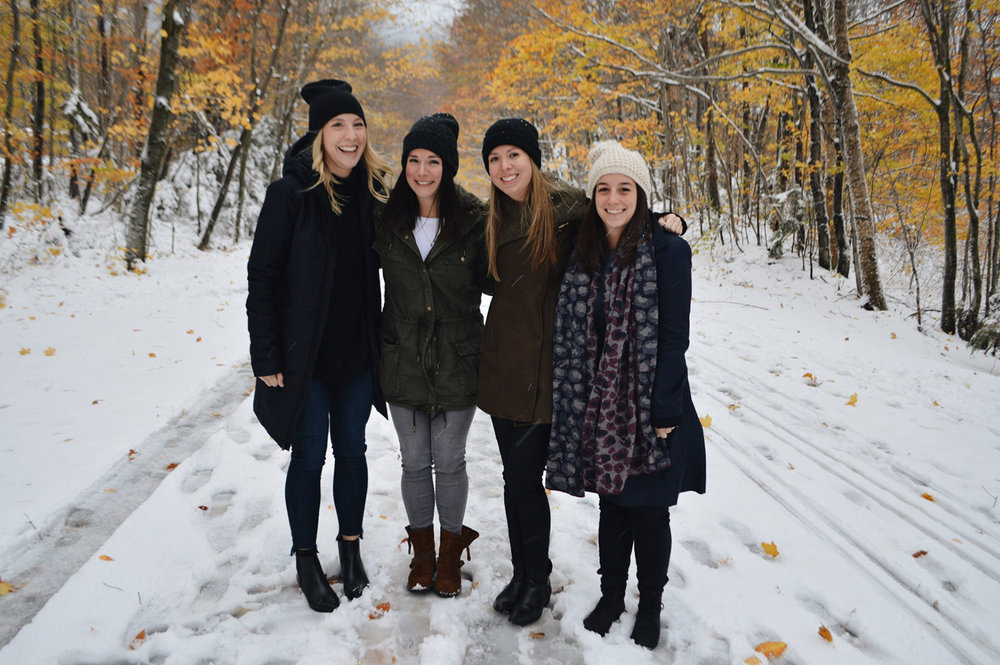 HAVING AMBER, EMILEE AND MICHELE IN VERMONT THIS PAST WEEKEND MEANT THE WORLD TO ME. WE HAD THE ABSOLUTE BEST WEEKEND TOGETHER I DIDN'T WANT IT TO END. IT'S LIKE WE NEVER SKIPPED A BEAT.