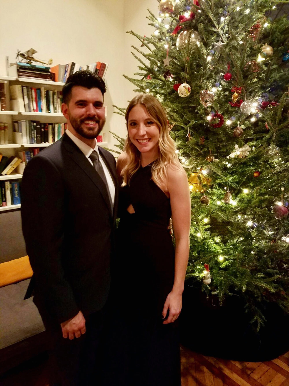 ALL SMILES AT THE HOLIDAY BALL WE ATTENDED IN BROOKLYN HEIGHTS LAST WEEKEND.