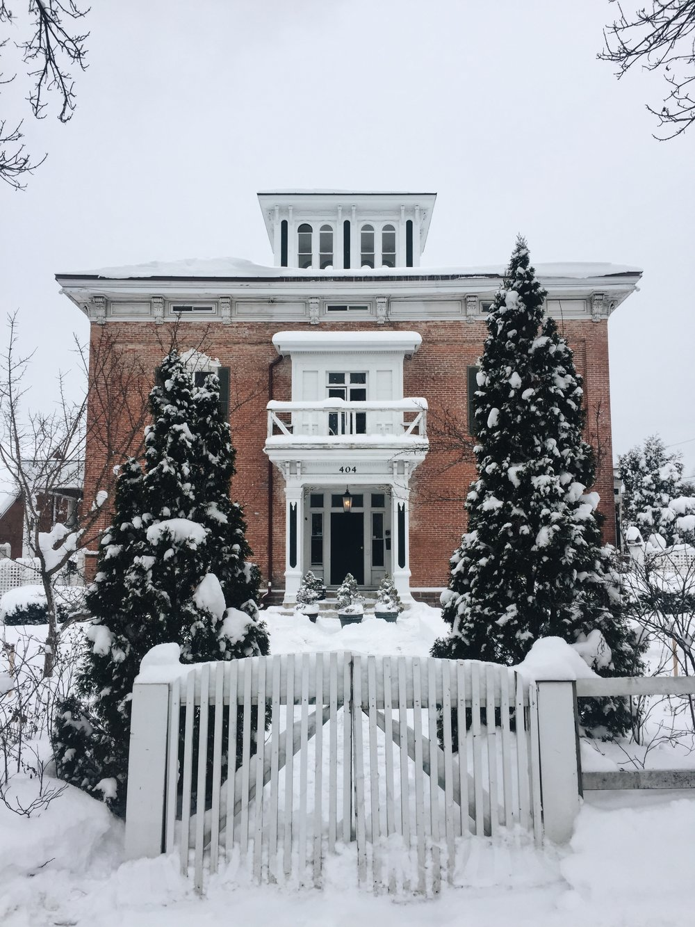 A SNOWY BURLINGTON AFTER A FRESH FOOT OF SNOWFALL.