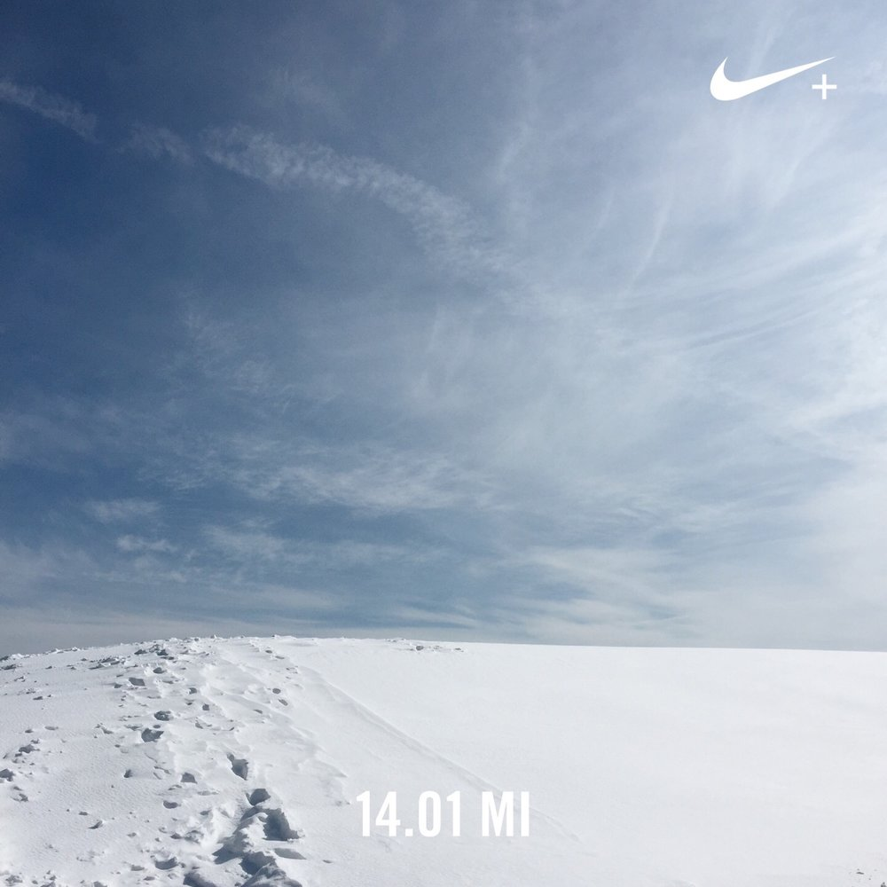 14 SNOWY, SLUSHY, SOPPING WET MILES THANKS TO A RISE IN TEMPS THIS PAST WEEKEND.
