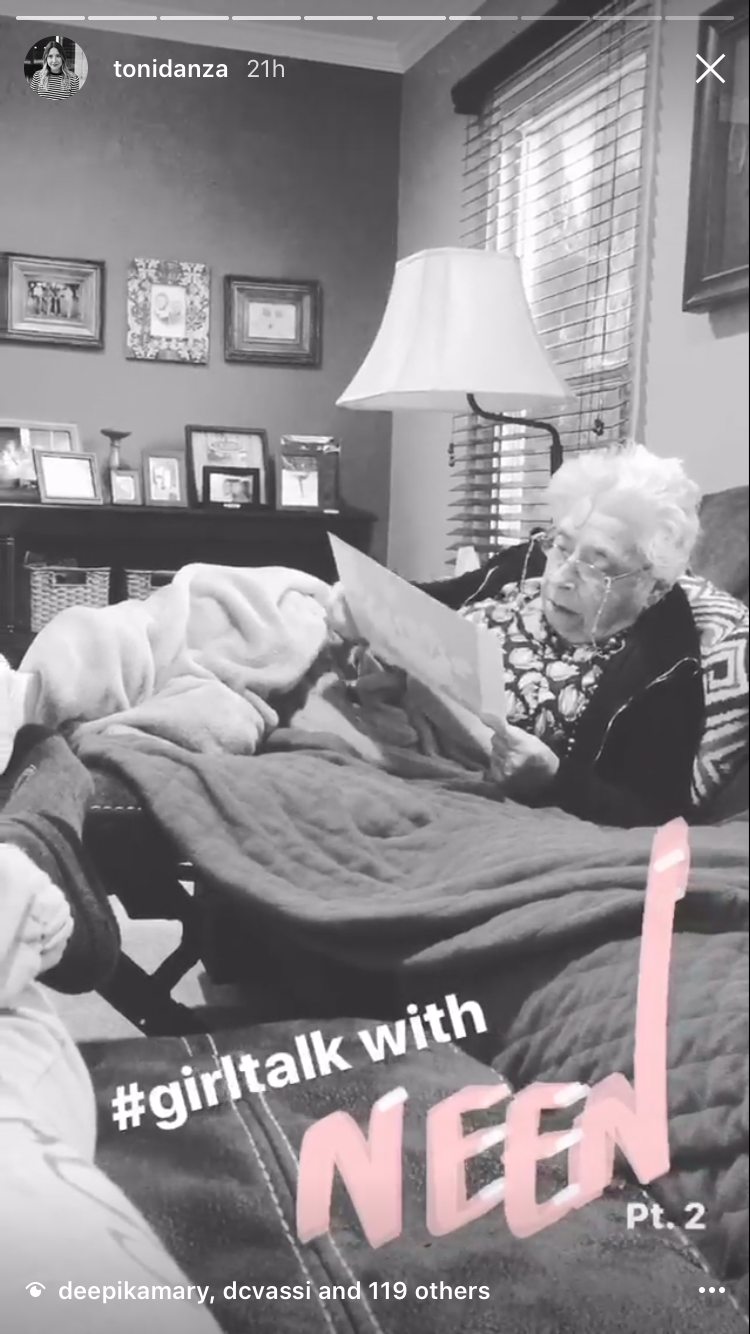 PROBABLY ONE OF THE FUNNIEST CONVERSATIONS I'VE EVER HAD WITH MY GRANDMA. HOPEFULLY YOU HAD THE CHANCE TO LISTEN ON MY INSTASTORIES THIS WEEKEND.