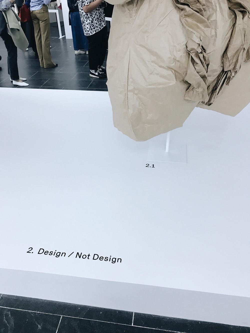 2. DESIGN / NOT DESIGN ~ DRESS OF BROWN PAPER