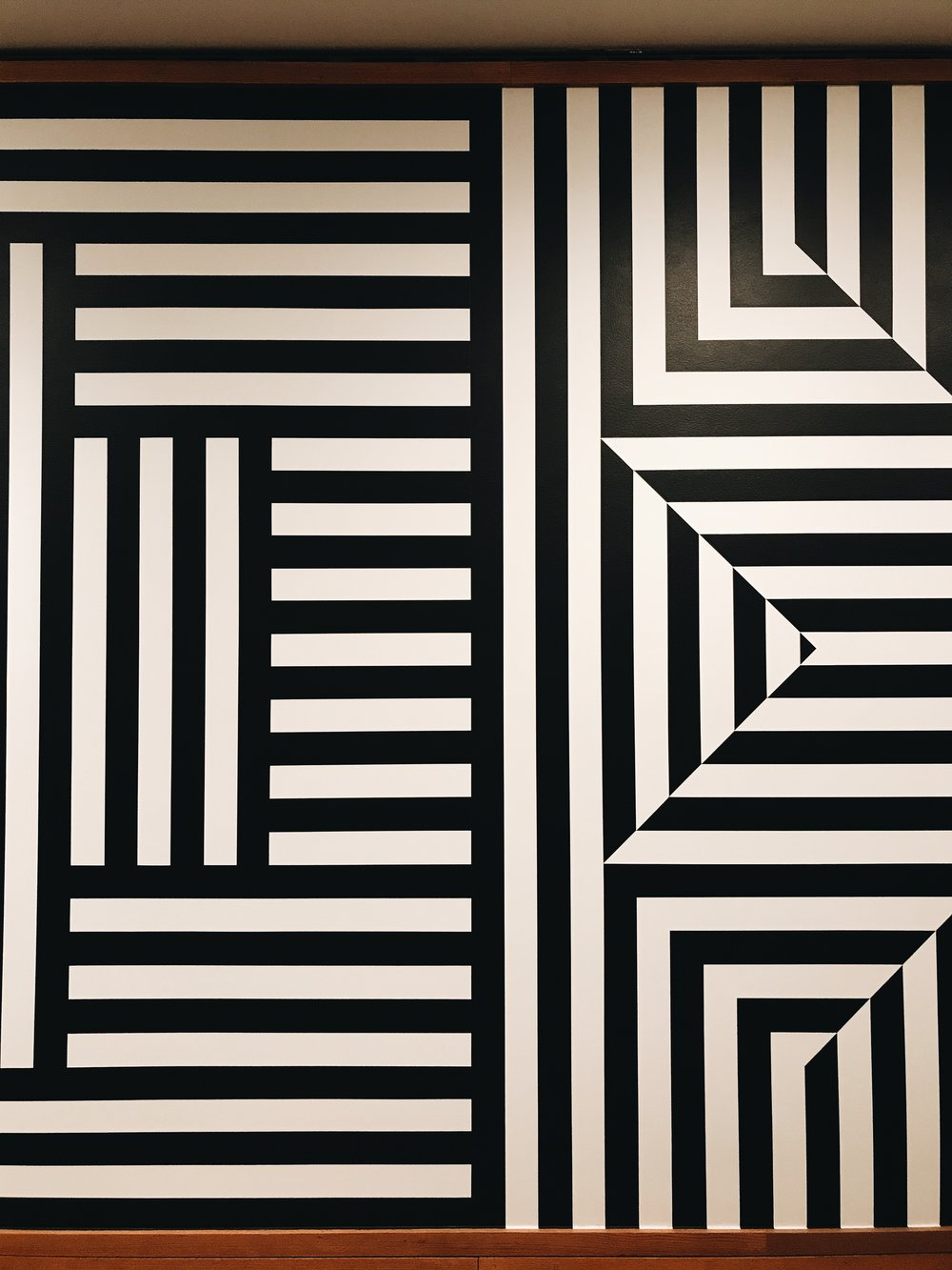 JUST SOME GOOD OLE BLACK AND WHITE OP ART IN THE MODERN AND CONTEMPORARY WING OF THE MET.