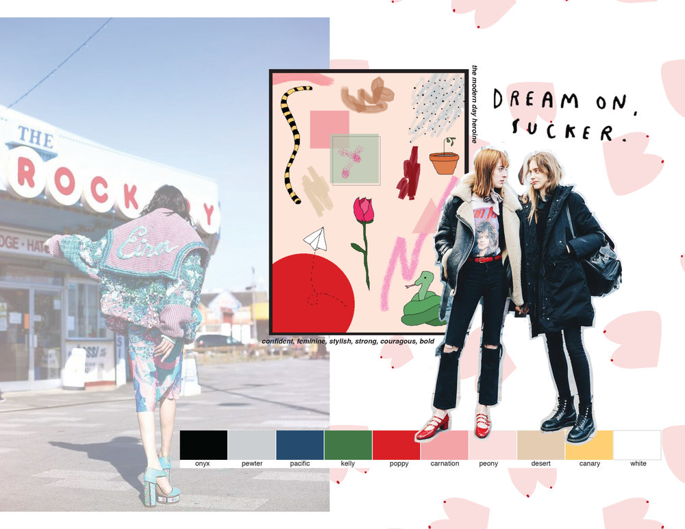 DESIGN + DEVELOPMENT - + mood/inspiration+ customer profile+ illustration+ CADS