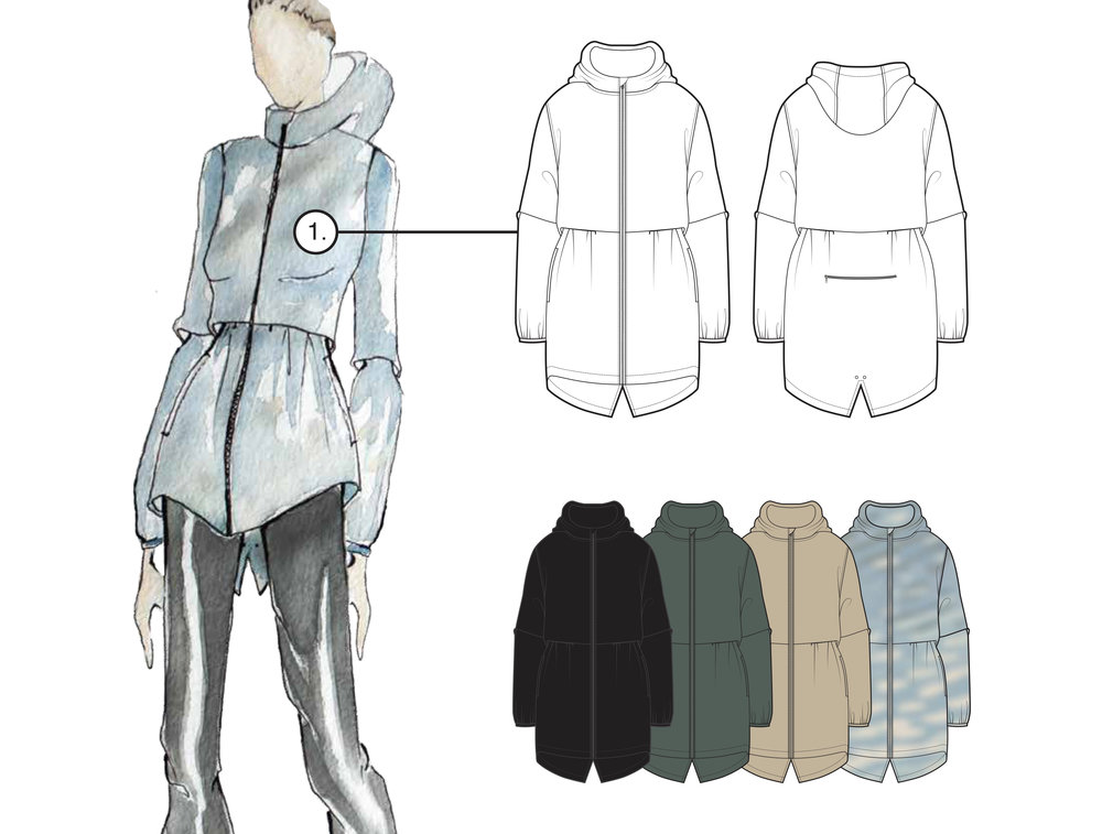 Apparel - + sketches+ tech packs+ roundups+ CADS