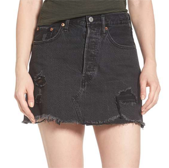 Levi's  - Deconstructed Denim Skirt