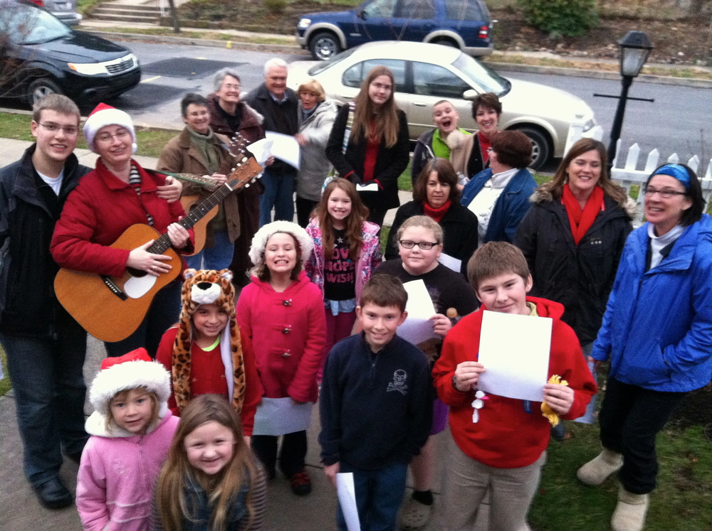 A group of carolers from St. Paul's ministers to shut-ins every year at Christmastime