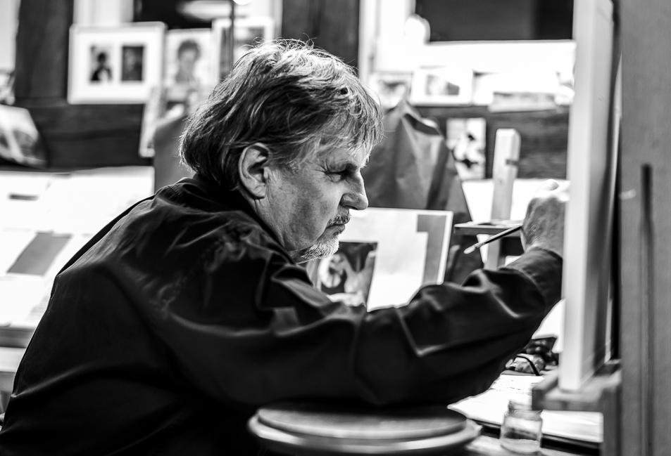 In the Atelier. Joachim Kupke 2016@Monika Houck