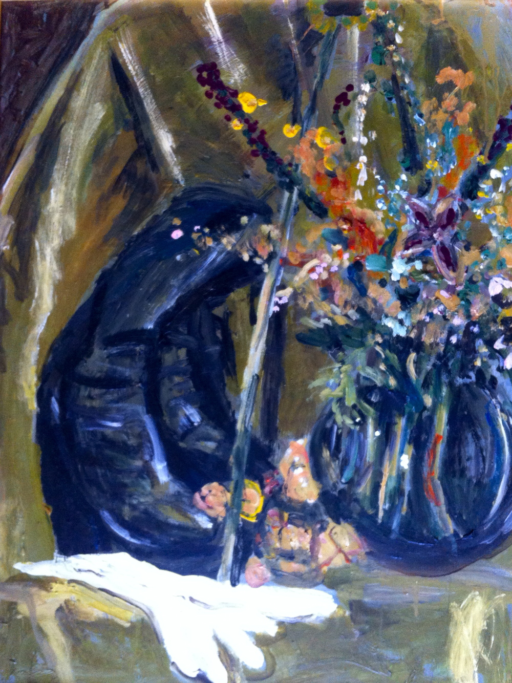 Still Life with Boots and Gloves