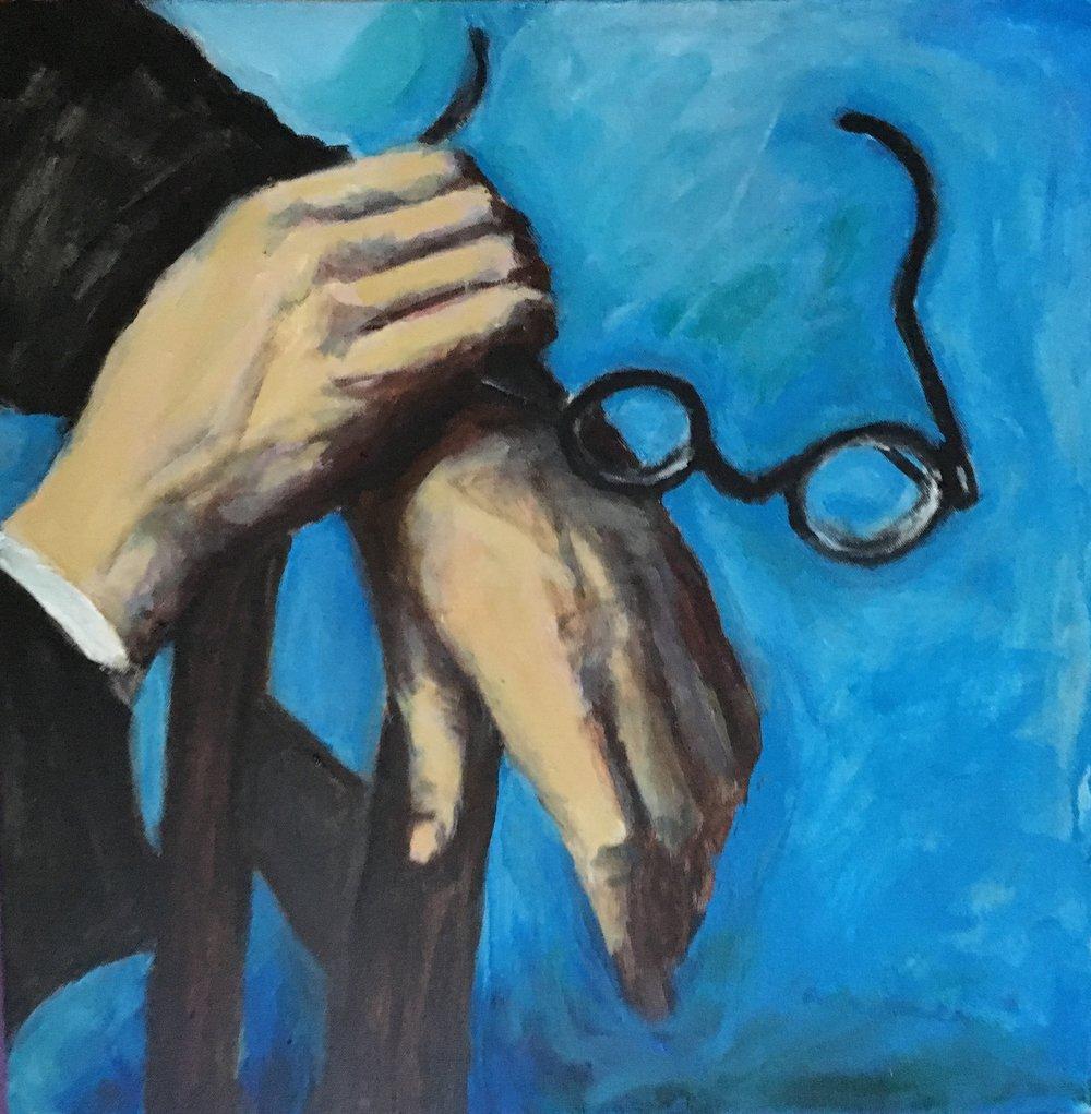 "After Andre Kertesz, ""Paul Armas' Hands"""