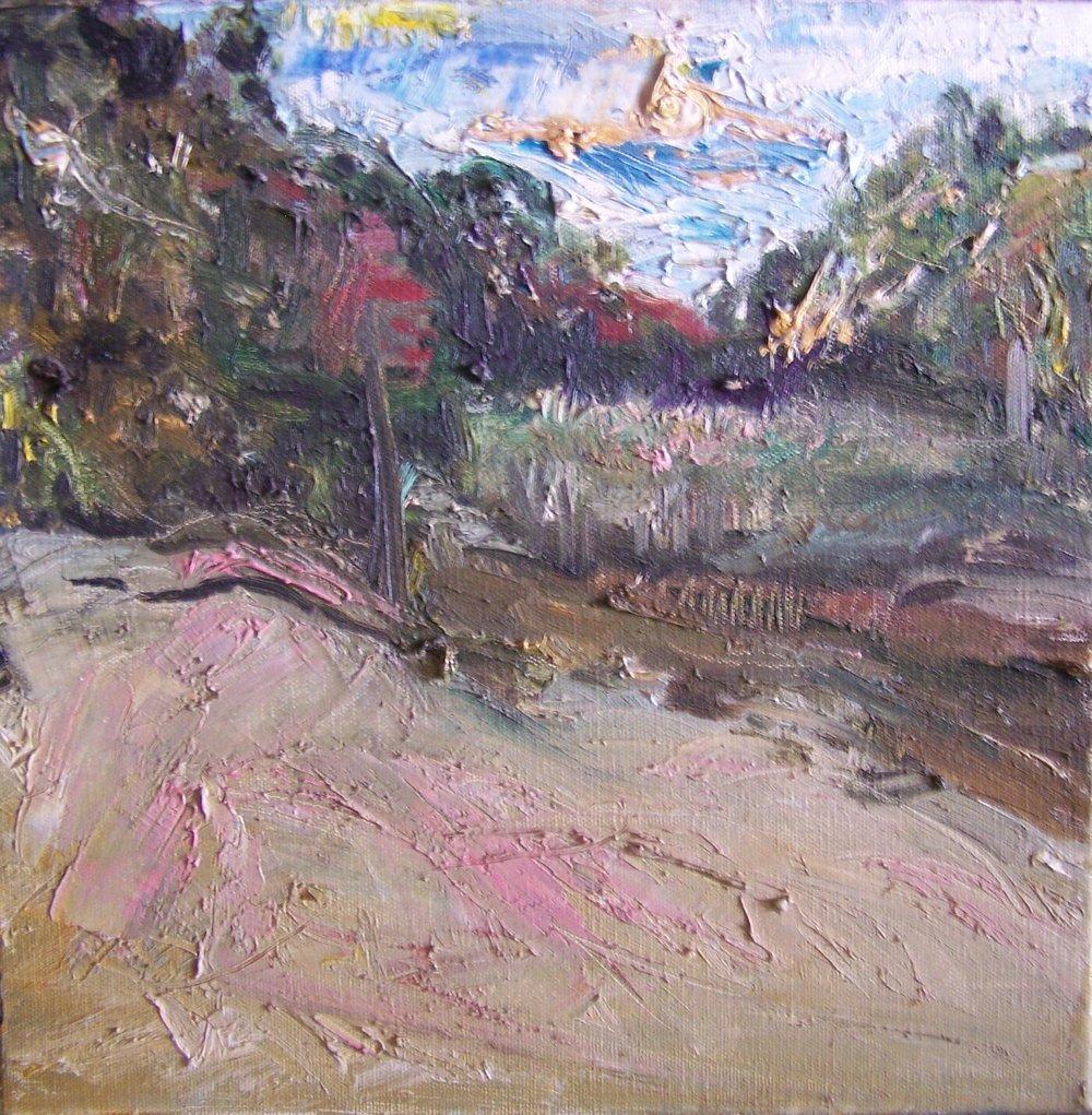 Landscape in Peach