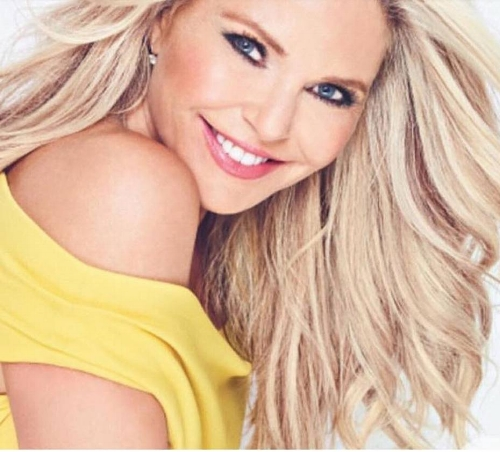 "Christie Brinkley, age 63, uses Xeomin to smooth frown lines. ""I just love it."""