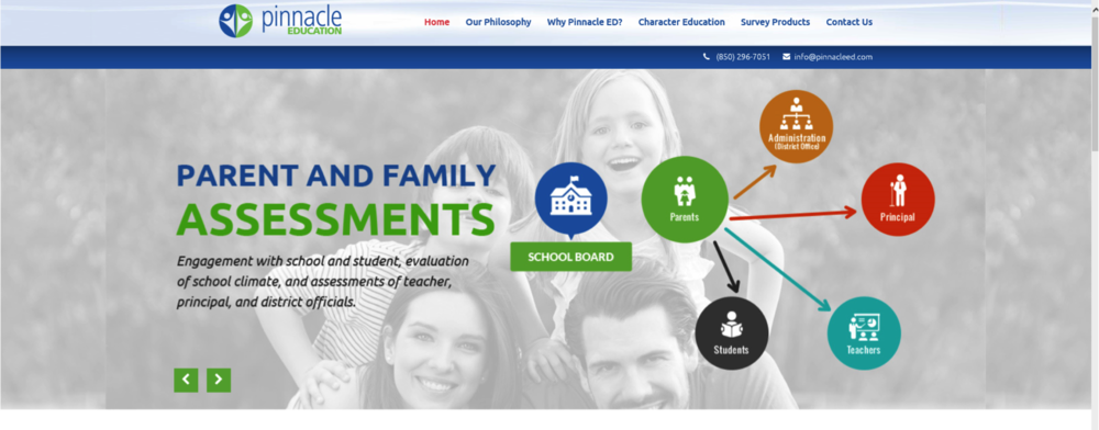 "According to their website, ""Pinnacle Education handles the entire survey process for a school district, from customized and branded online surveys to district and campus-level analytics."""