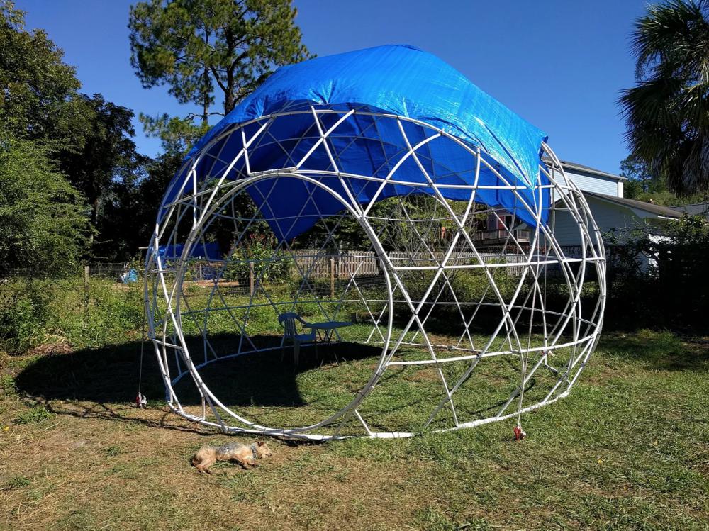 Customizable Circular Woven Dome Building