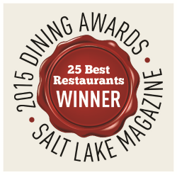 Pago named as one of 25 Best Restaurants in Utah 2015 by Salt Lake Magazine.