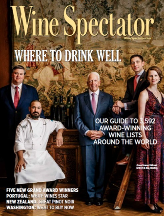 Pago awarded a 2017 Wine Spectator Restaurant Award, recognizing the top restaurants around the world for wine.