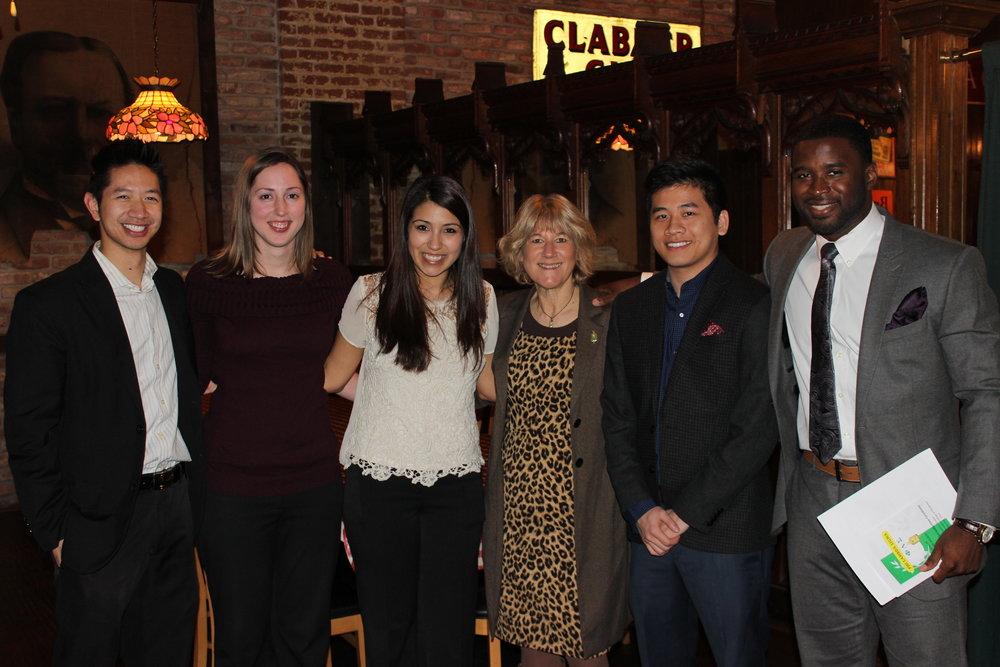 2013-2014 Officers L-R: Daniel Nguyen, Rachel Eppinette, Tara Molina, Dr. Lynn Simpson (Advisor), Tam Nguyen, Osagie (Tony)Ohonba