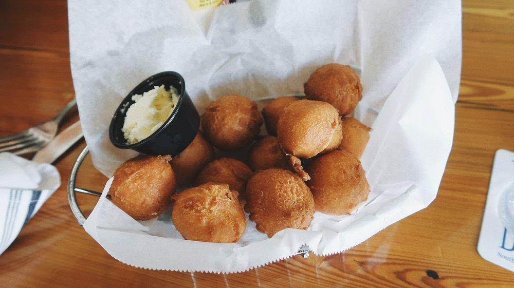Jake's Hush Puppies - Handmade sweet cornbread bites.