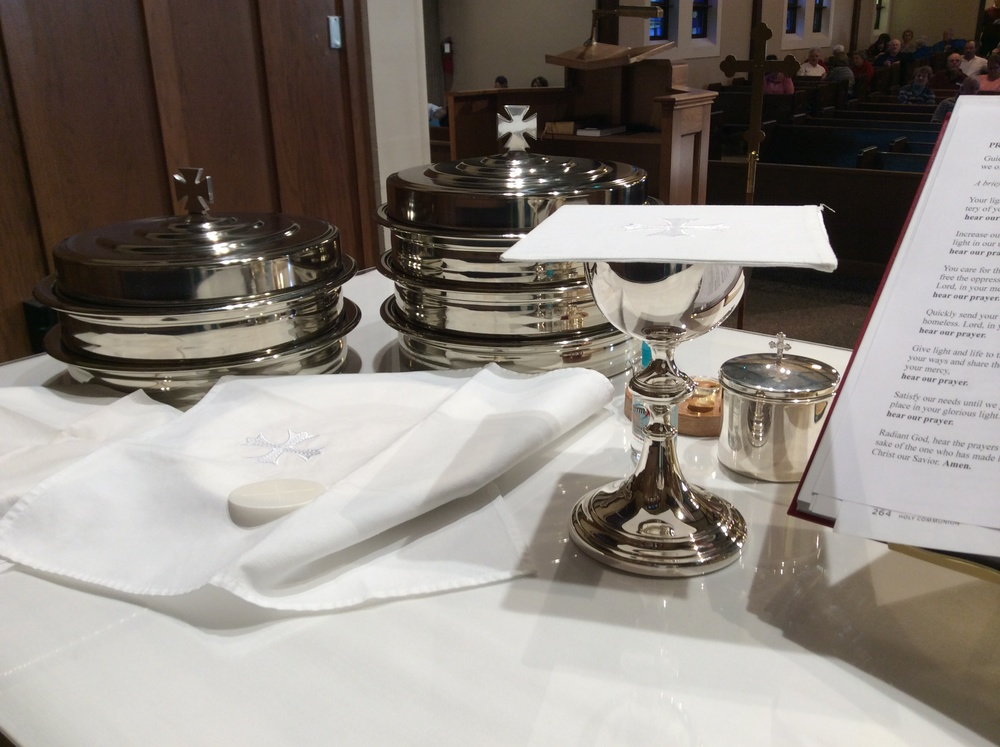 Holy Communion-  St. John's offers communion at every worship service.  All guests who are accustomed to receiving communion at their home congregations are welcome at the LORD's table.  First Communion instruction is offered to 5th graders, however, all who have received instruction are welcome regardless of age.