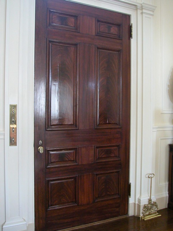 Grained Mahogany Doors
