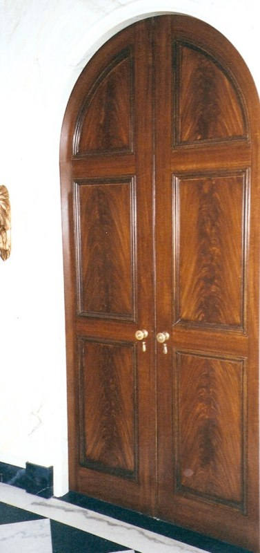 Grained Mahogany Door