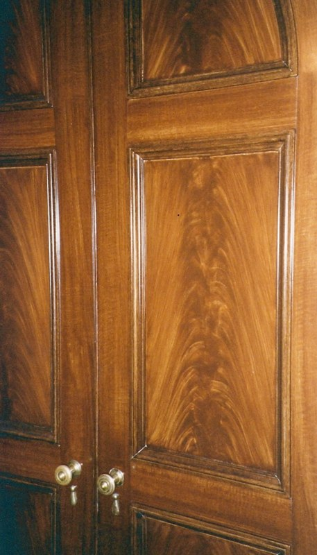 Grained Mahogany Door - detail