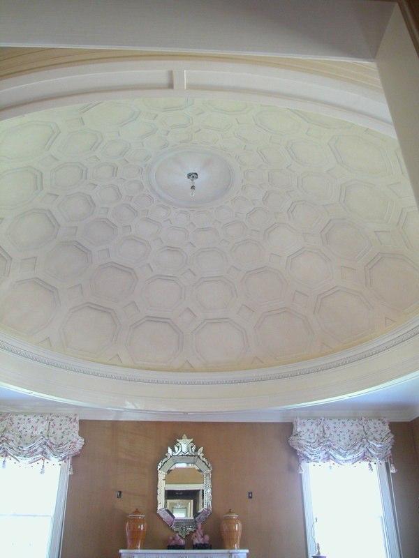 Trompe L'oeil Paneled Ceiling