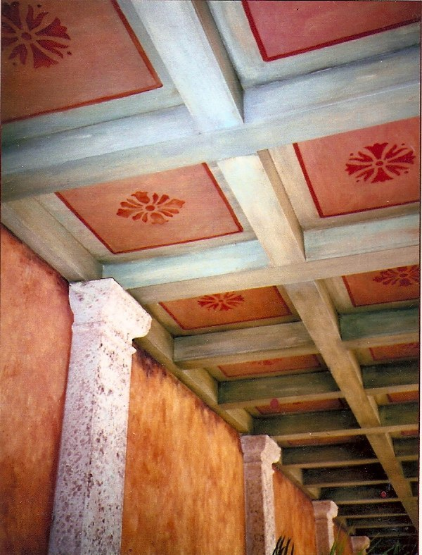 Painted & Stenciled Ceiling