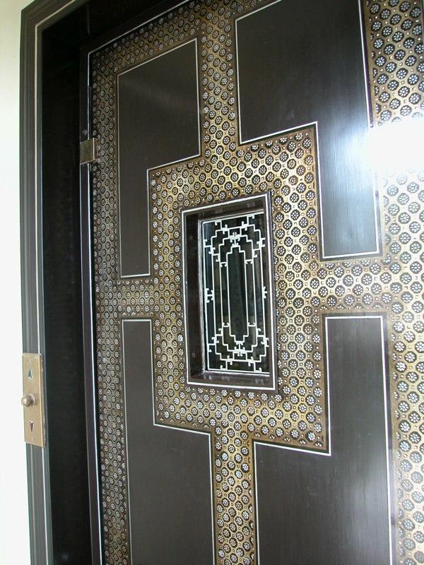Stencil - Elevator Door