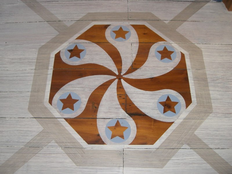 Painted Floor - detail of adapted Dutch Hex