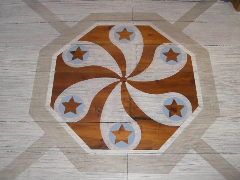 Painted Floor - detail