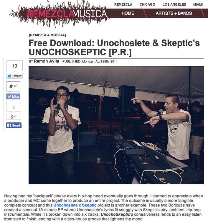 Reseña de UnochoSkeptic en Remezcla