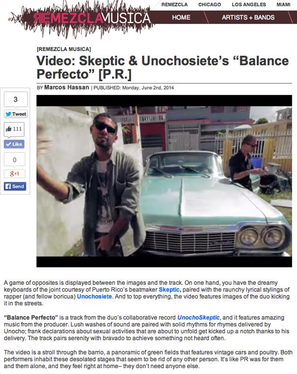 Reseña del video de Balance Perfecto en Remezcla