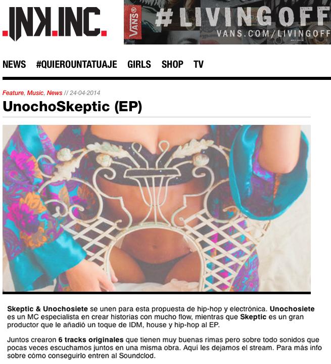 Reseña de UnochoSkeptic en Ink Inc