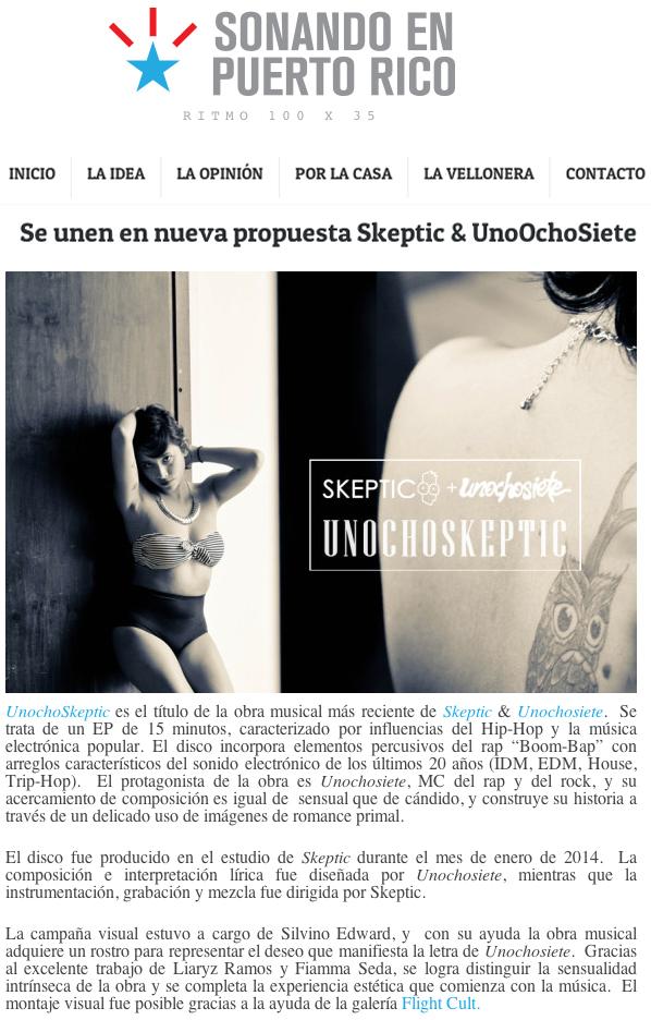 Reseña de UnochoSkeptic en Sonando en Puerto Rico