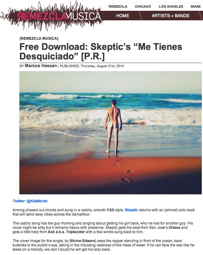 Skeptic Me Tienes Desquiciado Orteez Skeptic Silvino Edward Hip Hop Electronic Puerto Rico