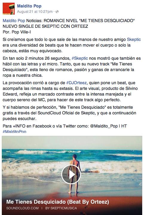 Maldito Pop Me Tienes Desquiciado Orteez Skeptic Silvino Edward Hip Hop Electronic Puerto Rico