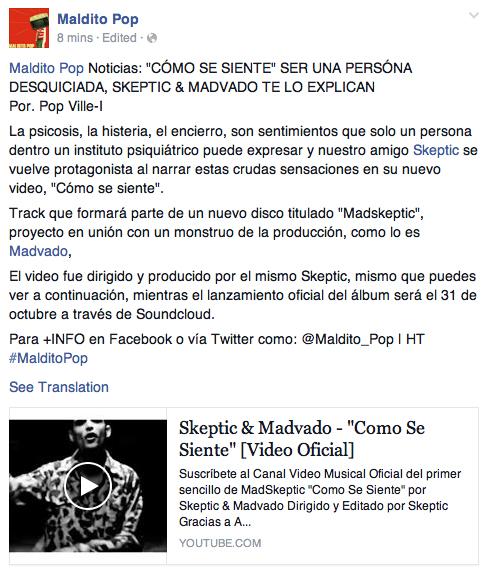 Maldito Pop Skeptic Madvado Madskeptic Hip Hop Puerto Rico EDM Beats Video