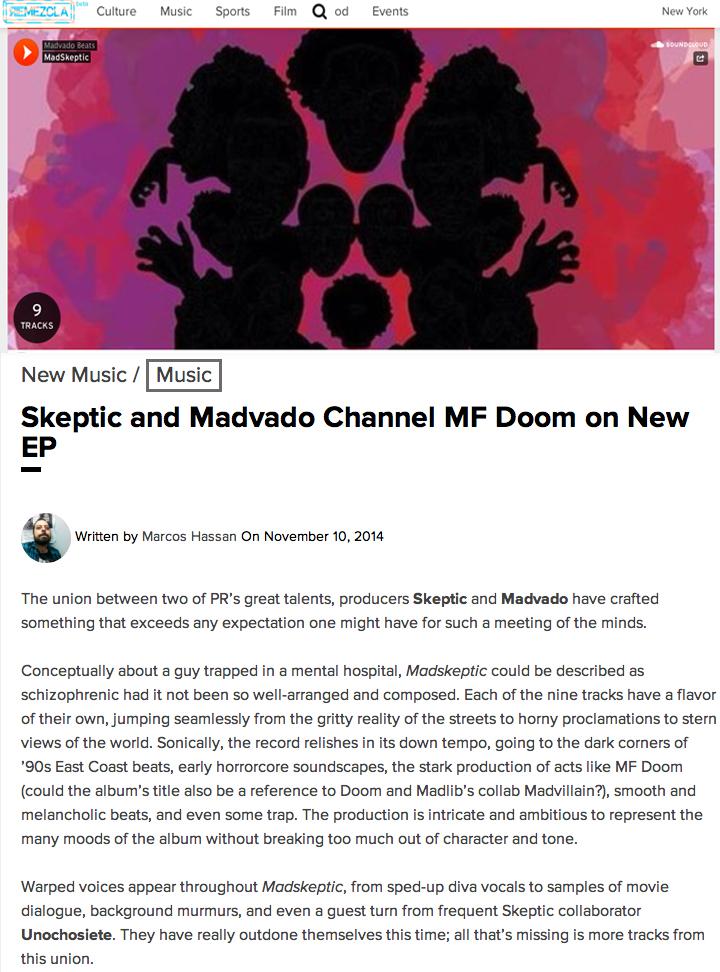 Remzcla MadSkeptic Skeptic Madvado Trap Puerto Rico Rap Hip Hop EDM