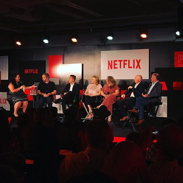 Had a great time at this @netflix panel, listening to some great talents #netflixfysee #juddapatow and many more
