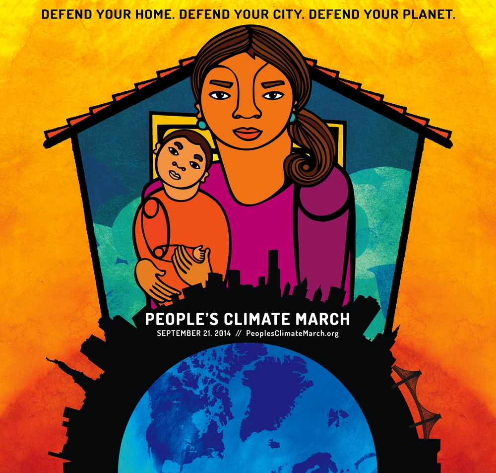 """Defend Your Home. Defend Your City. Defend Your Planet."" Artist: Favianna Rodriguez"